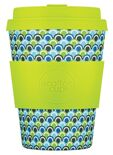 Ecoffee Cup Diggi Tre - Bamboe Beker - 350 ml - met Lime Siliconen
