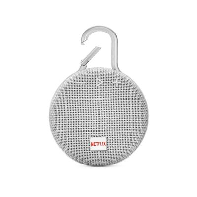 JBL Clip 3 Personalized Steal White met full color doming