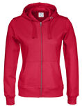 Cottover Full Zip Hood Lady rood M