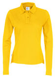 Cottover Pique Long Sleeve Lady geel XS