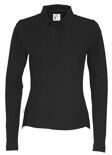 Cottover Pique Long Sleeve Lady zwart L