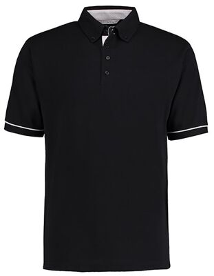 Kustom Kit - Classic Fit Button Down Collar Contrast Polo Shirt