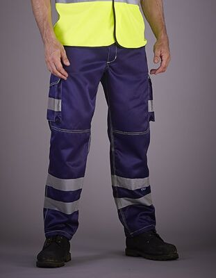 YOKO - High Visibility Cargo Trousers with Knee Pad Pockets